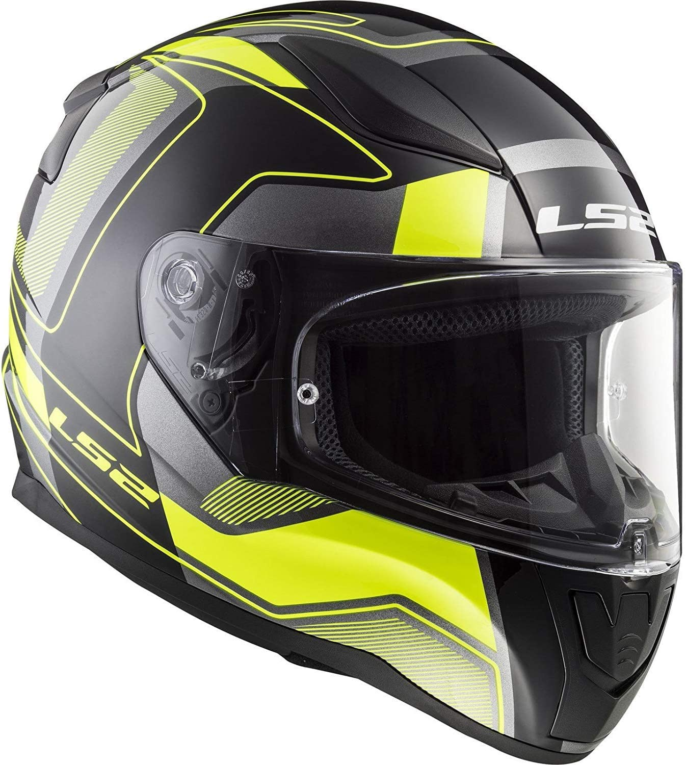 Color Coveralls Carrera Black//Hi-Viz Yellow XS MOTORCYCLE HELMETS LS2 FF353 Rapid Full Face Motorcycle Sport Scooters Touring Full Face Racing Helmet