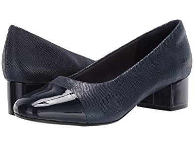 Clarks Chartli Diva (Navy Interest Leather) Women