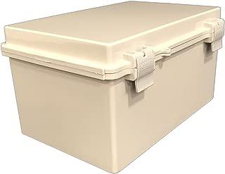 BUD Industries NBF-32018 Plastic ABS NEMA Economy Box with Solid Door, 11-51/64