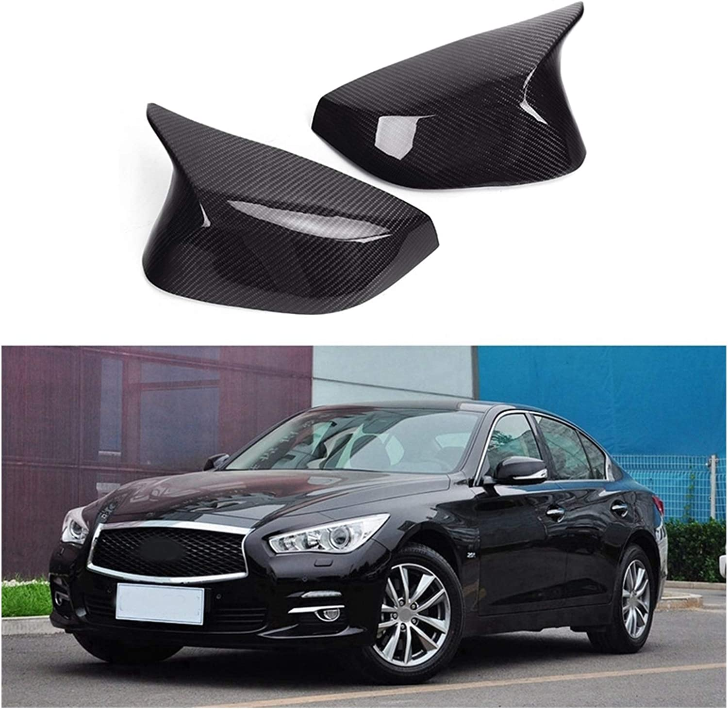 KKLL 2Pcs Carbon Fiber Side Rear Cover Mirror Cap Replaceme Oakland Mall View Free shipping
