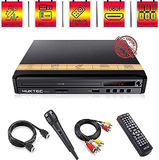 Reproductor de DVD, reproductores de DVD para la región de TV, DVD gratis, 1080p, Full HD, reproductor de CD/DVD compacto con micrófono de karaoke, reproductor multifunción AV+cable HDMI, control remoto/micrófono incluido