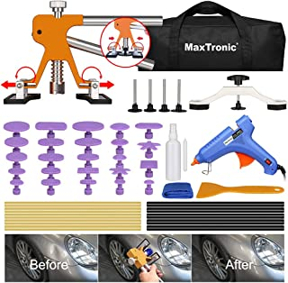 MaxTronic Dent Removal Kit, Dent Puller, 46 pcs Adjustable Car Dent Remover Tool Kit to Pops a Dent with Dent Lifter & Glue Gun for Auto Body Hail Damage Door Ding Paintless Dent Repair