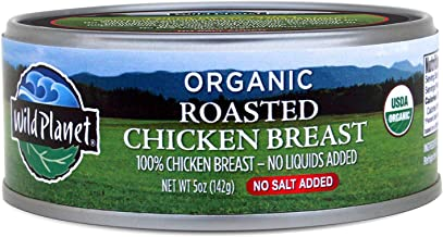 Wild Planet Organic Roasted Chicken Breast, Skinless and Boneless, No Salt Added, 5 Ounce