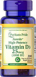 Puritans Pride Vitamin D3 10000 IU Bolsters Health Immune System Support and Healthy Bones &...