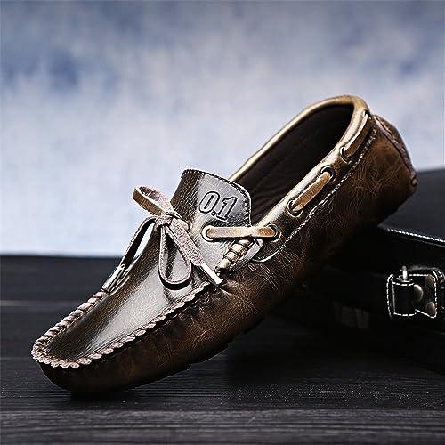 Les souliers, les chaussures en cuir, les chaussures, les chaussures, les chaussures de paresseux,marron,Forty,