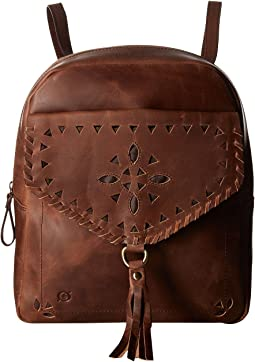 Amherst Distressed Perforated Backpack
