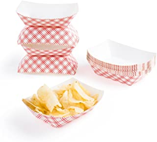 Disposable Paper Food Tray for Carnivals, Fairs, Festivals, and Picnics. Holds Nachos, Fries, Hot Corn Dogs, and More! - ...