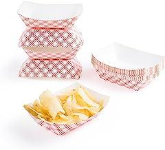Bandeja de papel desechables para carnavales, Ferias, festivales y Picnics. Sostiene Nachos, patatas fritas, Hot maíz Perros, y más.–2.5-pound, 50-Pack por Super salida Z®