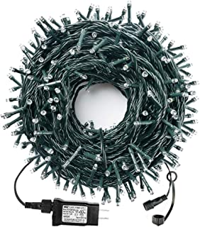 MZD8391 105FT 300LED Christmas Lights Outdoor Indoor, 100% UL Certified 8 Modes, END to END CONNECTABLE, Waterproof Christmas Tree Lights Fairy String Lights Christmas Decoration Party (Warm White)