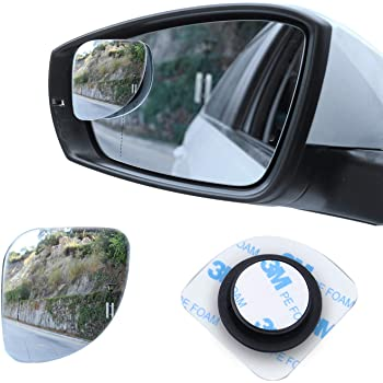 Blind Spot Mirrors for Car 1PC Auto 360 Wide Angle Round Convex Mirror Car Vehicle Side Blind Spot Automobile Double Mirror Wide Rear View Mirror Right