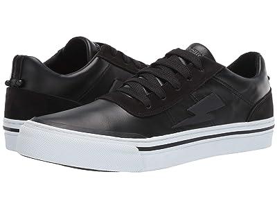 Neil Barrett Thunderbolt Skater Sneaker (Black/Black/White) Men