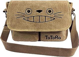 My Neighbor Totoro Cross Body Handbag Shoulder Bag Messenger Bag Canvas Shoulder Bag Cartoon Anime School Book (Color : C,...