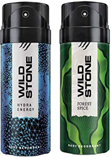 Wild Stone Mens Deodorant Forest Spice And Hydra Energy Combo Pack 2 (150 ML)
