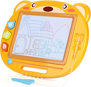 Toy for Kids Toddlers Portable Travel Size Peradix Kids Magnetic Drawing Board Big Size 16.9X13.8 inch Bear Magna Scribble Doodle Board Erasable Colorful Writing Painting Sketching Pad