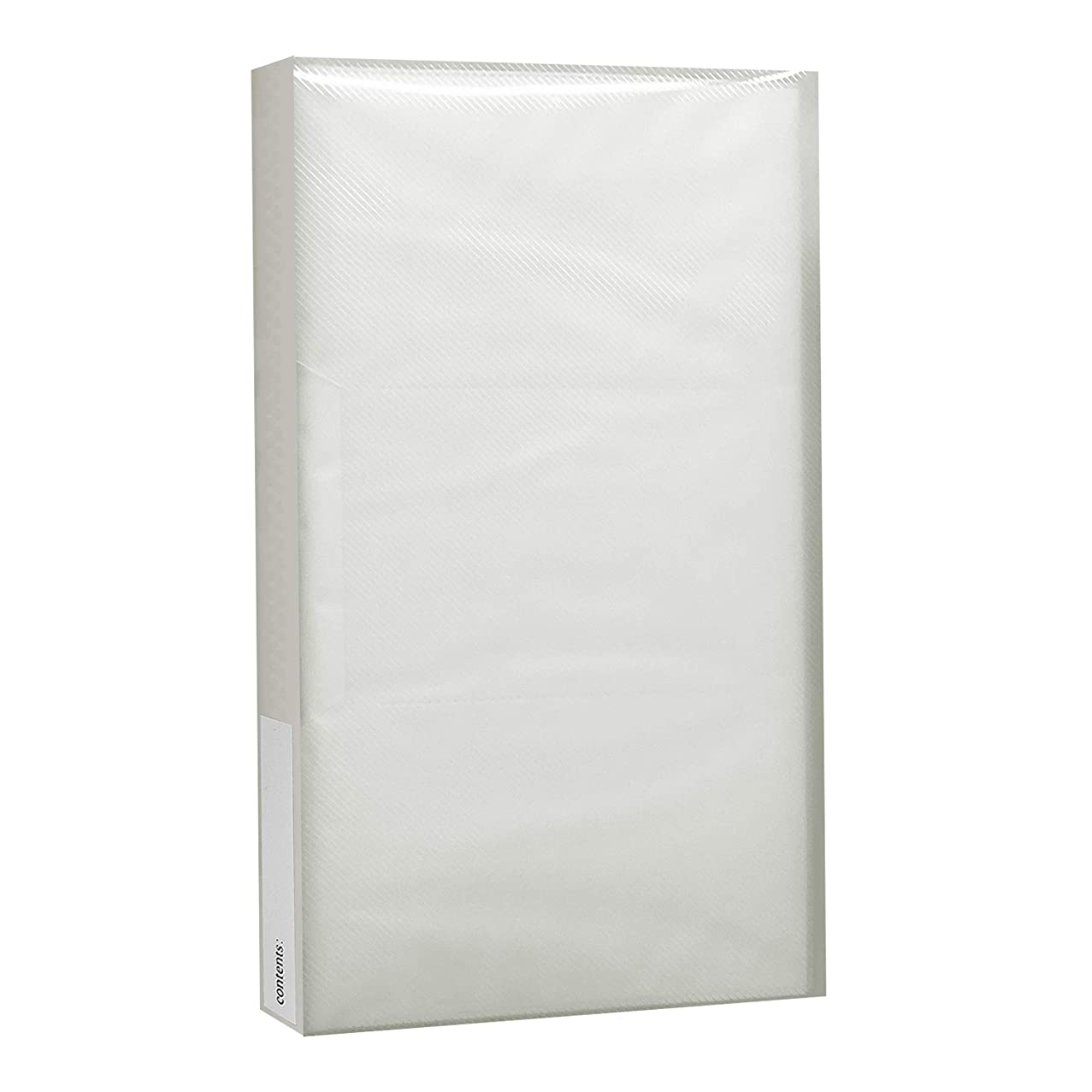 Pioneer Photo Albums CF-3 144-Pocket Poly Cover Space Saver Photo Album, Clear