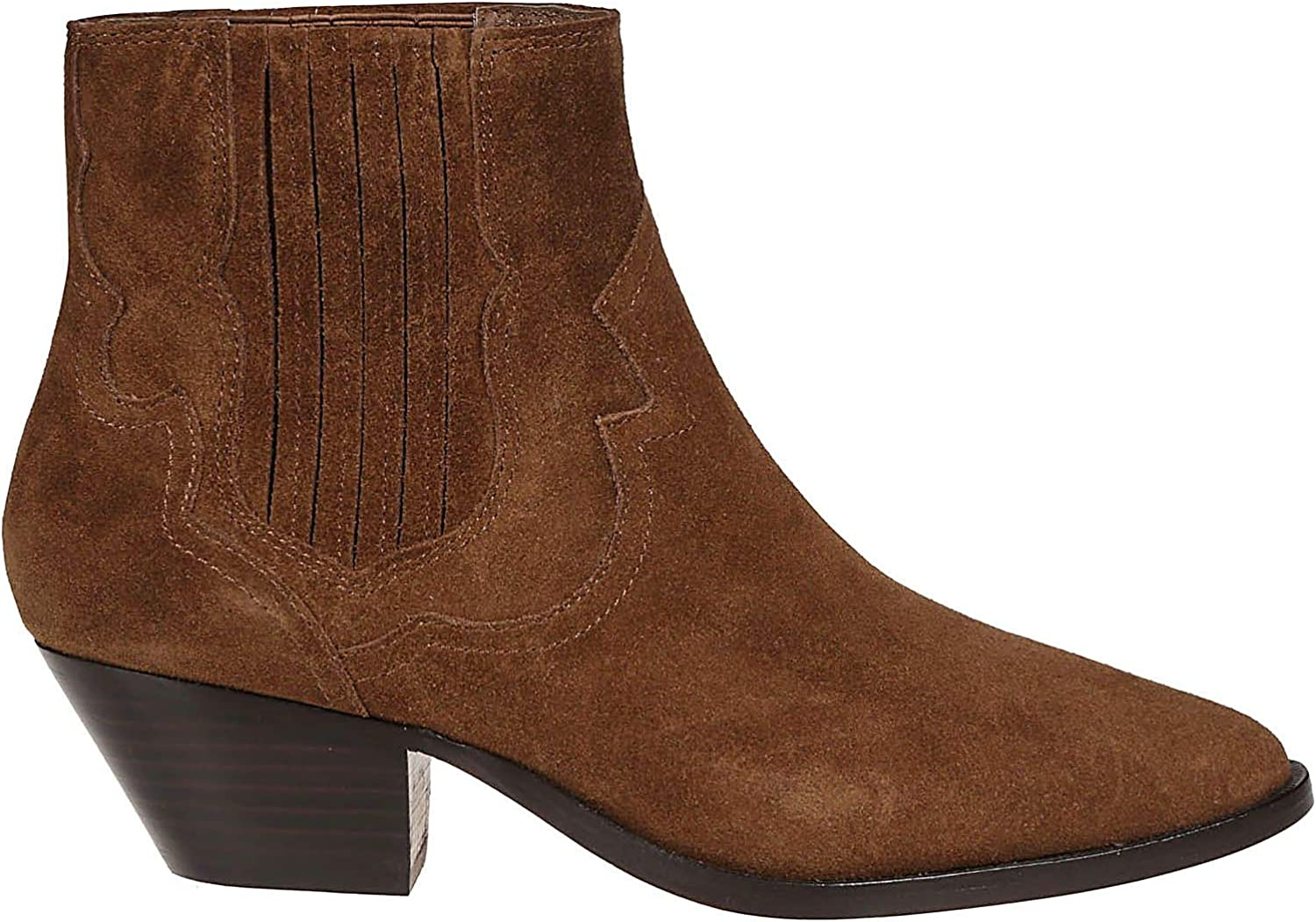 Ash Women's FALCON01 Brown Suede Ankle Boots