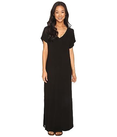 Hard Tail Every Day Tee Maxi Dress (Black) Women