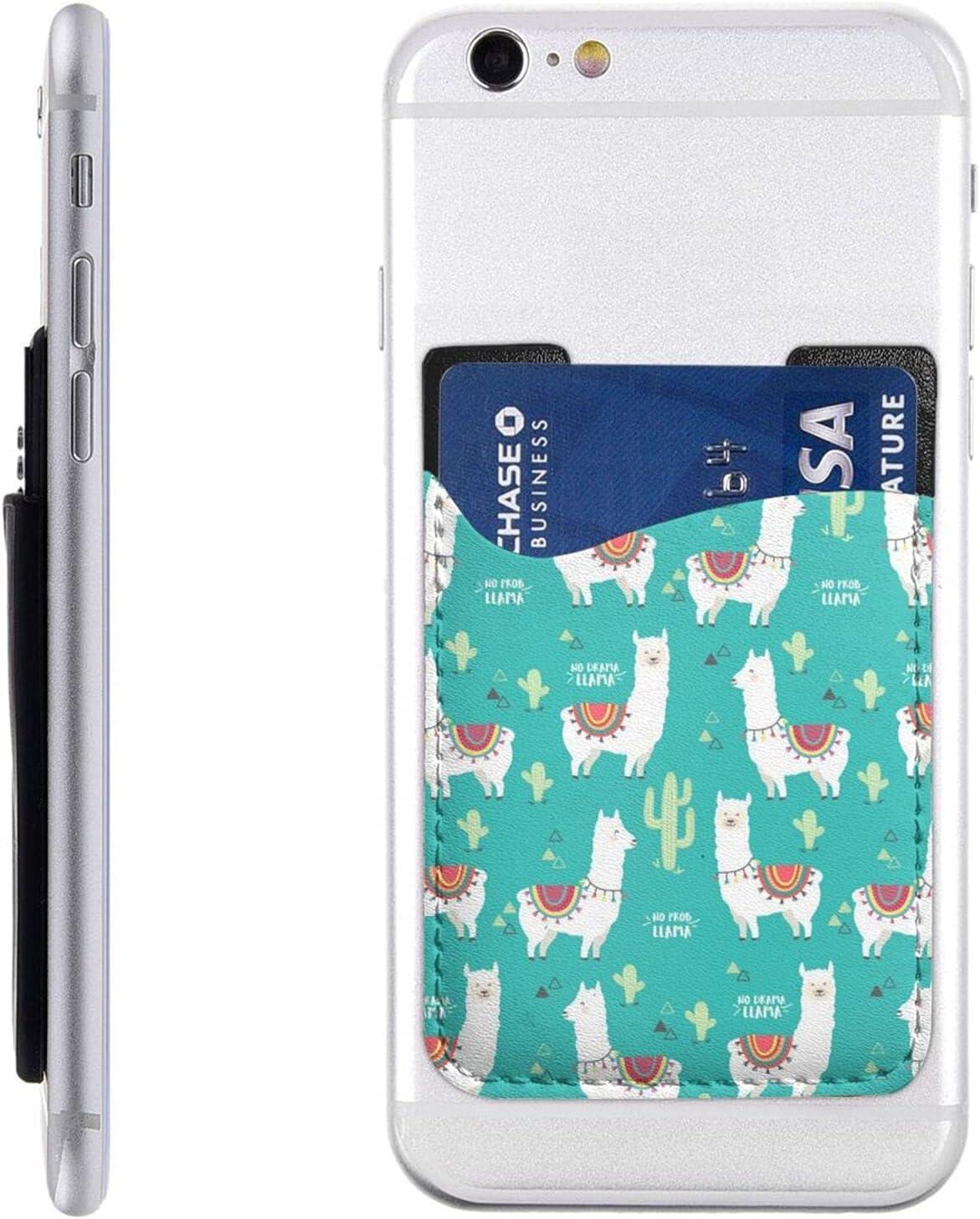 Cute White Llama Las Vegas Mall and Cactus Charlotte Mall Phone Card Stick Holder O Cell