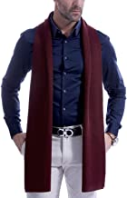 Men's Scarf Cashmere Fashion Scarves for Men Winter Knitted Long 70.8IN 11.8IN - Vextrofort