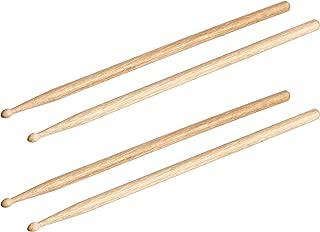 AmazonBasics 5A Drumsticks - Oak, 2-Pair Pack