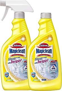 Magiclean Bathroom Cleaner (Trigger & Refill), Refreshing Lemon, 500ml (Pack of 2)