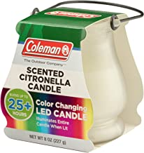 coleman citronella candle color changing
