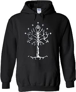White Tree of Gondor Lord of Rings Novelty Black Men Women Unisex Hooded Sweatshirt Hoodie
