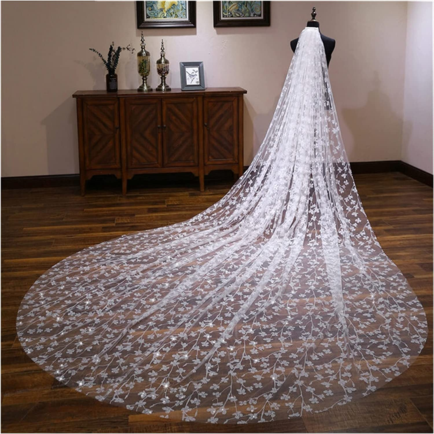SIFDNRGNFN Las Vegas Mall Tulle Vintage Ivory Champagne Bridal with outlet Veils Long