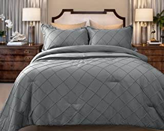 Sponsored Ad - Marquess 3 Piece Microfiber Comforter Bed Set (Grey, King)
