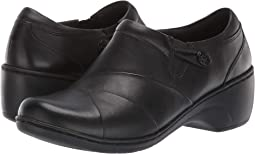 Black Leather/Enamel Button