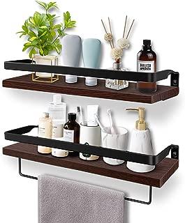 Soraken Floating Shelves, Wall Shelves Wall Mounted Bathroom Shelf, Rustic Wood Wall..