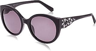 Swarovski 19307211 Oval Sunglasses Shiny Black/Smoke