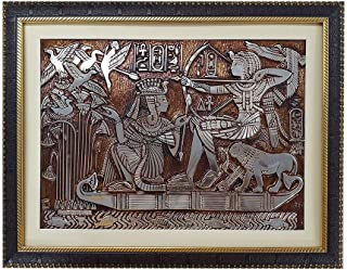 FrameBoy Ant-Egyptian Art Paintings Synthetic Wood Framed Wall Hanging Photo for Living Room-Office-College (Synthetic Woo...