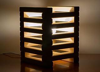 """Lampada da tavolo in legno con""""Listelli"""""""