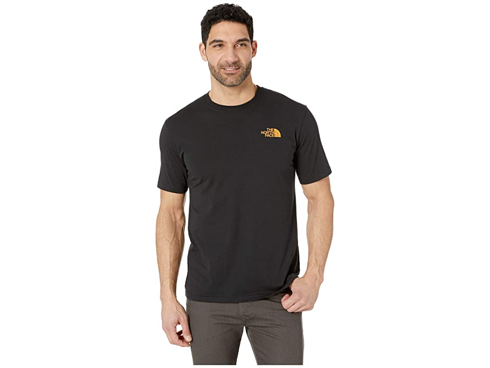 The North Face Short Sleeve Red Box Tee (TNF Black/Citrine Yellow) Men