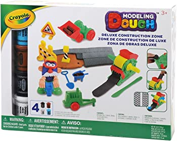 Crayola 24-Pc. Modeling Dough Deluxe Construction Zone Kit