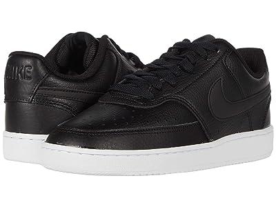 Nike Court Vision Low (Black/Black/White) Women