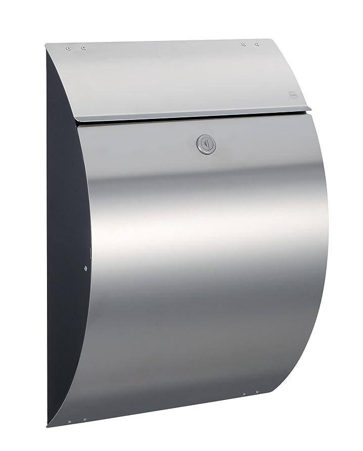 チケットのヒープ磁気郵便ポスト ハイビポスト モダンポストXF シリンダー錠 グラファイト ステンレス艶消 64238-039