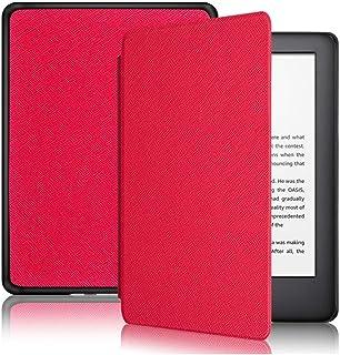 Capa Kindle 10ª geração com iluminação embutida – Função Liga/Desliga - Fechamento magnético - Cores (Vermelha)