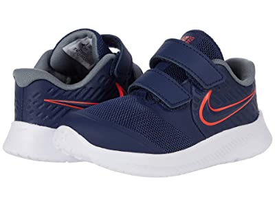 Nike Kids Star Runner 2 (Infant/Toddler) (Midnight Navy/Bright Crimson/Smoke Grey) Kids Shoes