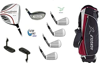 AGXGOLF Men's Left Hand Tour Edition Executive Golf Club Set wStand Bag, 460 Driver, 3 Wd, Hybrid, Callaway Style Irons & Putter, Cadet, Regular or Tall Lengths; Built in The USA!