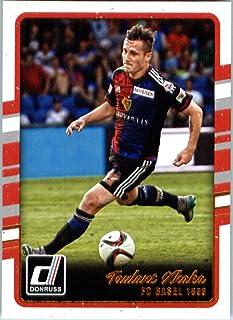 2016 Donruss #76 Taulant Xhaka FC Basel 1893 Soccer Card in Protective Screwdown Display Case