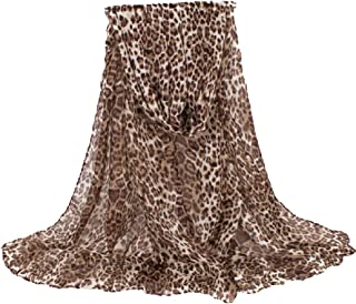 Daguanjing Fashion Lightweight Scarfs For Women Leopard Print