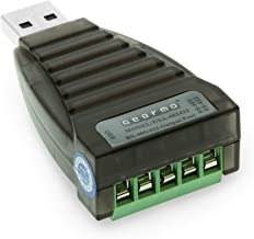 GearMo Mini USB to RS485 / RS422 Converter FTDI CHIP with Screw Terminals and Windows 10 Support