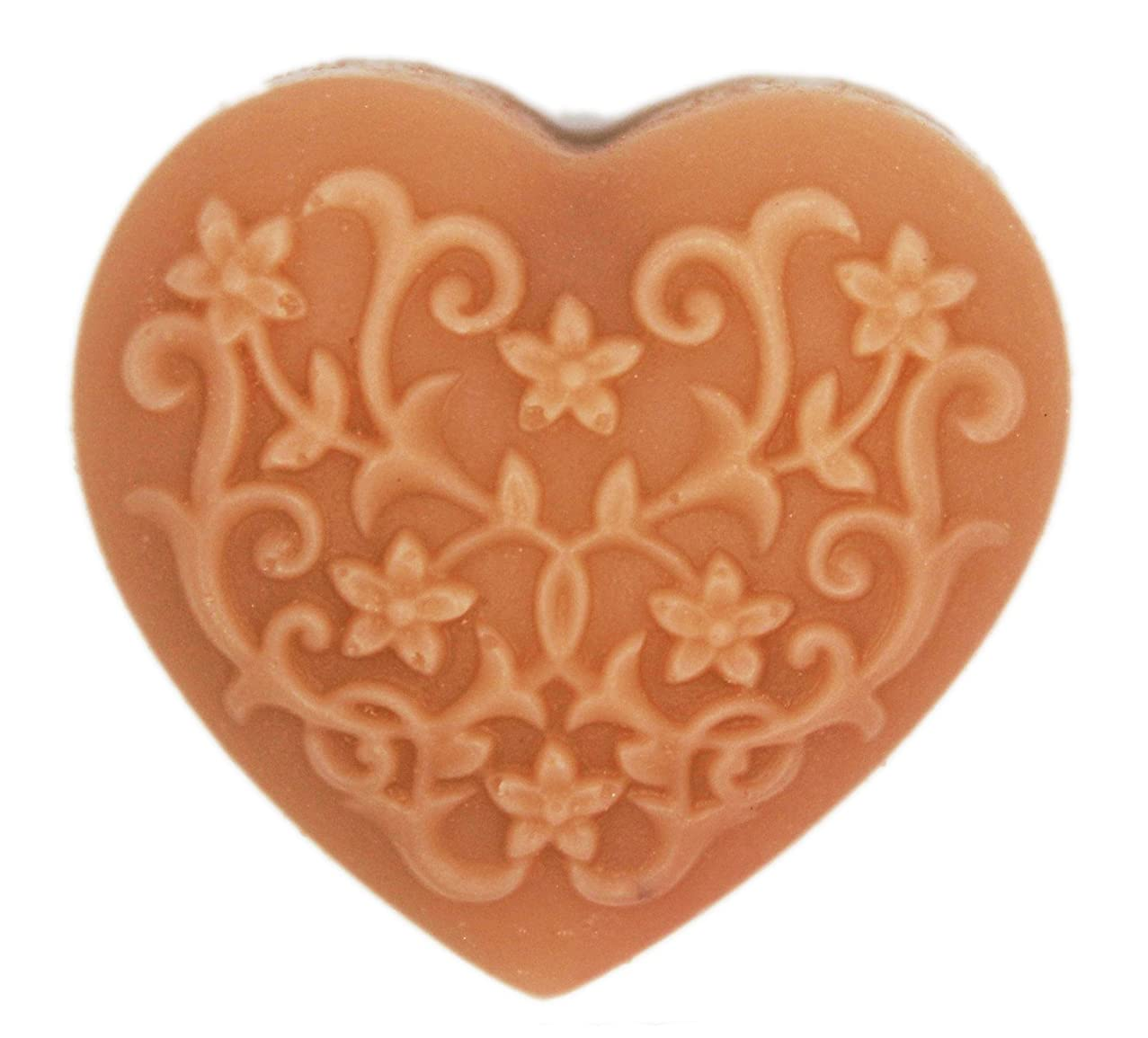 Longzang Rose Decoration Heart Silicone Soap Mold Craft Molds DIY (Decorative Pattern)