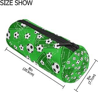 MASSIKOA Football Gate and Soccer Sports Ground Pencil Case Pen Zipper Bag Coin Organizer Makeup Costmetic Pouch for Women...