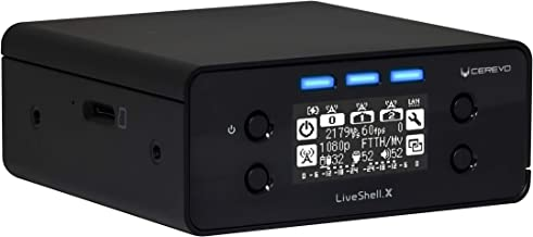 Cerevo LiveShell X Digital HD Video Streamer with H.265 Encoder and Stereo Line Input - WiFi or Wired Connection - Compatible with Ustream, Niconico, YouTube, Facebook Live, Twitch, RTMP Servers