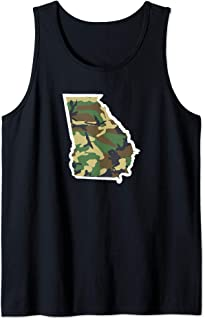 Georgia Home Shirt, Hunting Gear, Camo Map Apparel Tank Top