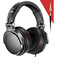 Over-Ear DJ Headphones, Prefessional Studio Monitor Mixing DJ Headset with Stereo Sound for...