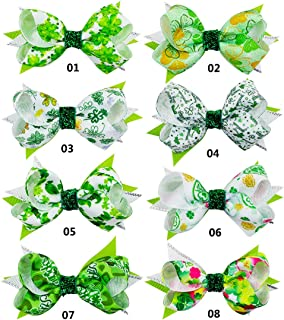 St. Patrick's Day Hair Clip Hair Accessories for Baby Girls TSFJ09 (8PCS 2)